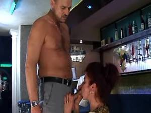 Horny man crazy fucking depraved mature in bar