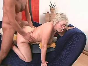 Lustful granny gets cumload on glasses after fuck