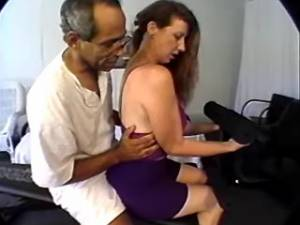 Busty grandma licked and sucks cock