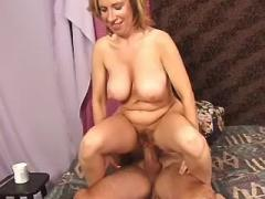 Lustful busty mature screwed on bed