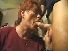 Kinky mature jizzed in a store room