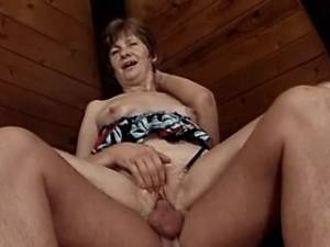Horny mature crazy drilled in attic