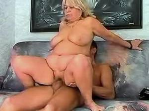 Fat granny going wild with young lover