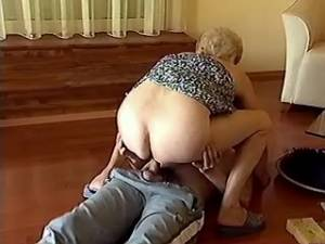 Lewd granny hard fucks and gets cum on her old ass