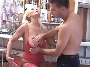 Chesty granny crazy drilled by dude in doggy style