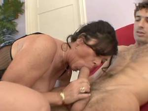 Guys fucks lustful granny in stockings by turns