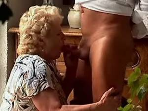 Chubby granny in stockings crazy fucked on floor