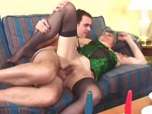 Old lustful whore gets cum on ass in groupsex