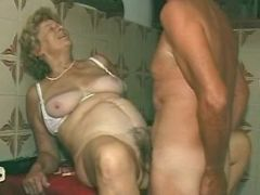 Old grandma hard fucked by man. Blonde Granny Porn Movies