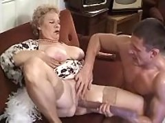 Mom gets titsfuck n dildo into cunt