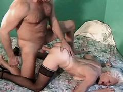 Mom sucks n gets sex in doggy style