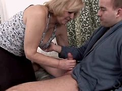 Granny blows n has fuck from behind