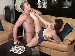 Grandma sucks cock n has fuck w guy