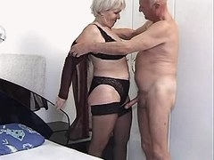 Old man with strong cock undress cute granny