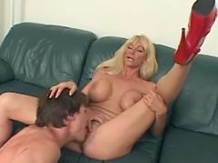 Mature licked and sucks strong cock