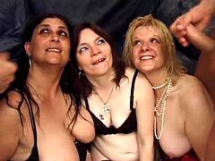 Three old whores are heavily fucked
