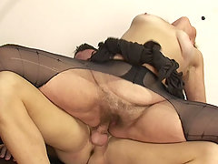 The marvelous mother in law is aging and horny and he hammers her pussy hard