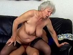 Old lady crazy fucks in every poses