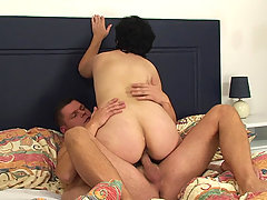 She happens to be fucking her son in law and the wife comes home and gets pissed