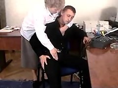 Curious dude trying sex with granny
