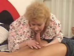 Nasty grandma seduces amateur guy
