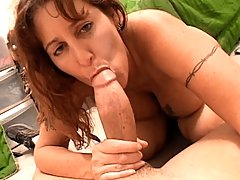 Horny Mom Sucks Big Dick & Prepares It Well To Fuck It