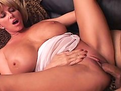 Warm cream pie for this amazing MILF with very HUGE boobs!
