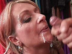 Granny likes when cum on her face
